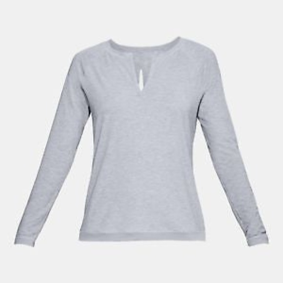 Under Armour Women/'s Athlete Recovery Sleepwear M Long Sleeve Henley Black TB12